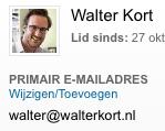 instellen van primair emailadres op Linkedin