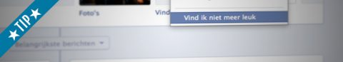 Zo vind je favorieten op Facebook niet meer leuk
