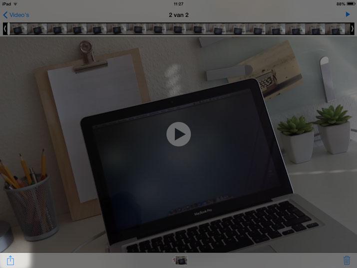 foto app album videos ipad delen