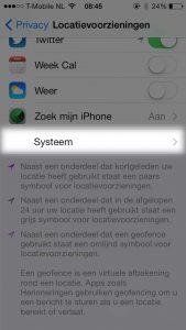 iphone ios7 instellingen locatievoorzieningen systeem