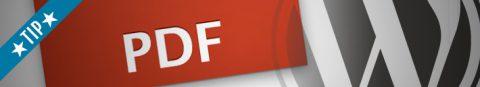 PDF toevoegen aan WordPress