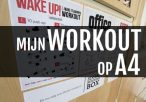 Workout op A4-papier