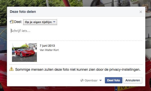 foto facebook groep besloten privacy