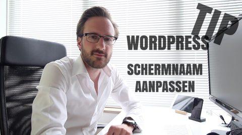 Schermnaam aanpassen in WordPress