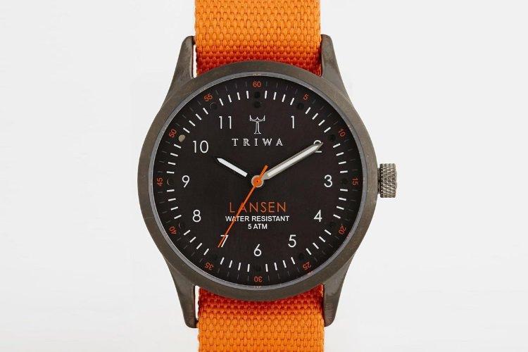 Triwa-Lansen-Orange-Canvas-Strap