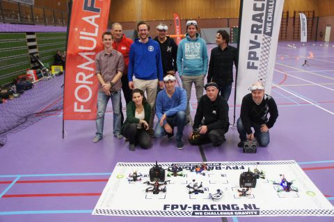 Drone Racing in Heemstede voor lokale TV en krant
