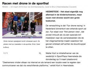 Drone Racing - dichtbijnl Heemsteedse Courant