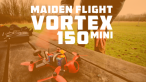 maiden flight Vortex 150 mini