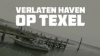 drone op texel in verlaten haven boven water
