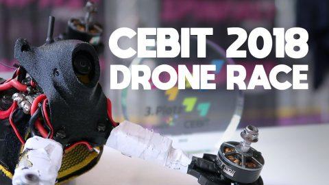 Op het podium - CEBIT 2018 Drone Race